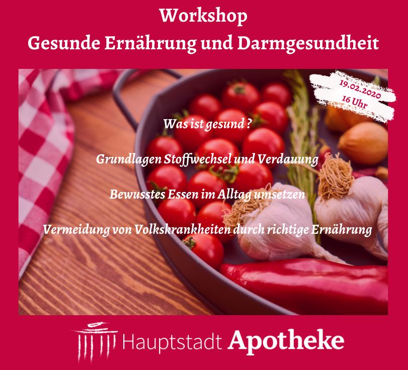 Workshop Ernährung und Darmgesundheit